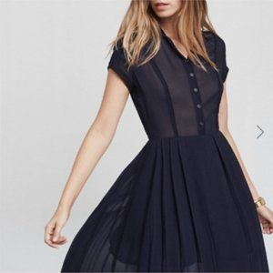 Reformation Mira Navy Dress with Pockets Size 4